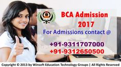 Get detailed information on MDU BCA Admission 2017 process, fee structure, scope of doing BCA, Job opportunity after BCA, BCA Application form etc. Contact @ 09312650500, 09311707000.