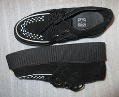 """T.U.K. Black White Men 5 Woman 7 Check Creepers 2"""" Platform Shoes Unisex TUK  #TUK #platform"""