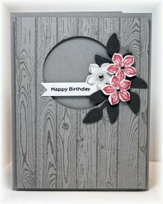 Hardwood, Petite Petals stamp and punch, Secret Garden framelits