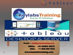 Tableau Online Training by Keylabstraining is a well defined course and trained by our Well Qualified Tableau Professionals all over the World. Our course content designed as per the current IT industry requirement.  Tableau training, Tableau online training, Tableau training in hyderabad, Tableau training in bangalore, Tableau training online, Tableau online course, Tableau developer training, Tableau interview questions, Tableau certification, Tableau training material