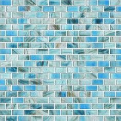 BANO :) shaw floors glass expressions frosted micro blocks accent tile in azure $17.26 sq/ft. I would put it in the shower for walls!