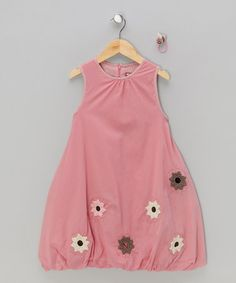 Take a look at this Coral Bumble Bee Bubble Dress & Hair Tie - Toddler & Girls by Dundelina on #zulily today!