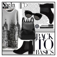 """""""Back to Basics"""" by cjcstyle ❤ liked on Polyvore featuring Balmain, Topshop, Yves Saint Laurent, Chanel, women's clothing, women's fashion, women, female, woman and misses"""