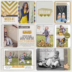 Inspiration for weekly cards. change up pattern color based on photo palette.