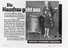 """#Siemens #Advertisement from 1928 on the topic """"cheaper #electricity at night"""". // Siemens #Werbeanzeige aus dem Jahre 1928 zum Thema """"Günstiger #Nachtstrom"""".  #historie #history #enjoysiemens"""