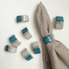 Ceramic Napkin Rings by weshopamano on Etsy