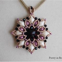 Beading Pendant Tutorial Bead Pattern Evening by poetryinbeads