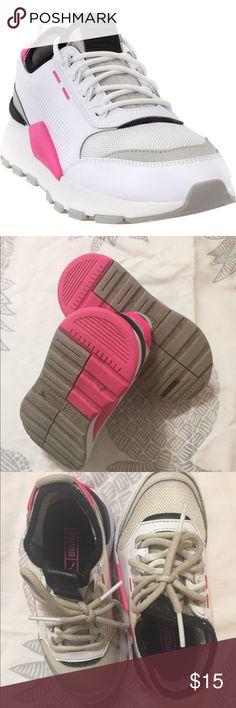 Details zu PUMA Vikky Mid Top WTR Peacoat Blue Plaid Magenta Purple Pink Winter Sneakers