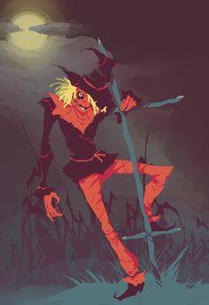 The Scarecrow by NuclearStarlight on DeviantArt Batman Drawing, Batman Art, Batman Comics, Dc Comics, Gotham Villains, Comic Villains, Gotham High, Scarecrow Batman, Jonathan Crane