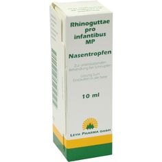 RHINOGUTTAE pro infantibus MP nose drops:   Packungsinhalt: 10 ml nose drops PZN: 07787285 Hersteller: LEYH-PHARMA GmbH Preis: 2,76 EUR…