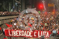 Manifesto in Sao Paulo / Brazil : Protesters against the government of Michel…
