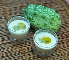 Contemplating this: kiwano cucumber gazpacho