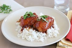 Slow Cooker from Scratch: Slow-Cooker Honey Garlic Chicken Recipe from Taste and Tell