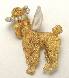 poodle angel pin