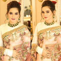 Pre Wedding Party, Aiman Khan, Screen Wallpaper, Designer Dresses, Girl Fashion, Sari, Girls, Ladies Fashion, Saree