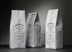 Identity and packaging design for Kobrick Coffee Roasters. Food Packaging Design, Coffee Packaging, Coffee Branding, Bottle Packaging, Brand Packaging, Coffee Labels, Chocolate Packaging, Paper Packaging, Beer Labels