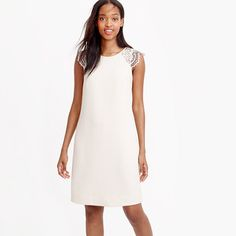 J.Crew - Edged lace cap-sleeve dress