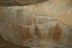 Photo of Spiral carvings at Barclodiad y Gawres, Rhosneigr, Gwynedd Cymru, Antiquities, Wales, Spiral, Creativity, Carving, Thoughts, Welsh Country, Wood Carving