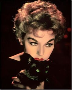 Classic Hollywood actress Kim Novak, vintage Halloween pin-up girl photo