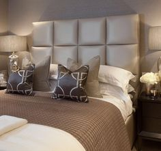 Glam elegance in this bedroom by JHR Interiors