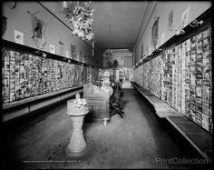 Jas. K. Stewart's Post Card Shop, Cincinnati, OH. Photographed by the Detroit Publishing Company between 1890 and 1910 on 8x10 glass plate negative.