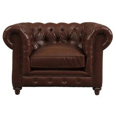 Chesterfield Armchair Queen Anne High Back Fireside Wing