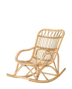 Rocking Chairs, Nature, Rattan, Poufs, Minis, Blue, Live