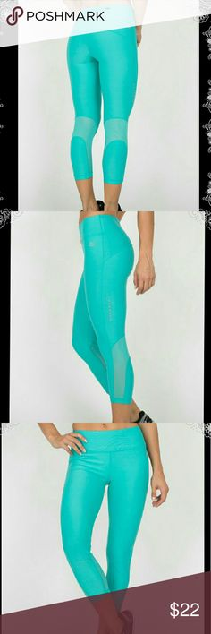 NEW sz. M RBX ACTIVE teal workout crops pants NEW with tags. Gorgeous teal color!  Fitted capri length high waisted leggings constructed for support and performance enhancing coverage. A tight compression fit that hugs your figure adds safety while providing a full range of motion. These body contouring capris are prepared to push your limits.  Stretch jersey fabric allows for a full range of motion and natural feel to stay focused on your workout  Compression fit for a locked-in feel  Mesh…