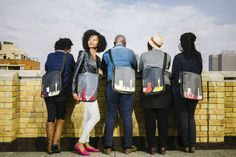 Thulani Shoulder bags with Jozi Skyline applique Photo taken by Smith Photography