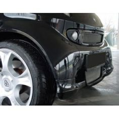 smart car Front Spoiler by S-Mann (Matte Black) - 450 Model