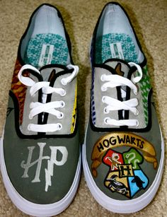 Harry Potter Shoes by meghansimonett on Etsy, $65.00