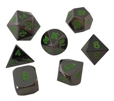 Warlock Tome with Black Dragon Metal Dice