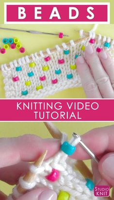 I'm learning how to Knit Beads into any project with Studio Knit - Super Easy! #StudioKnit #knittingtechnique #beads via @StudioKnit