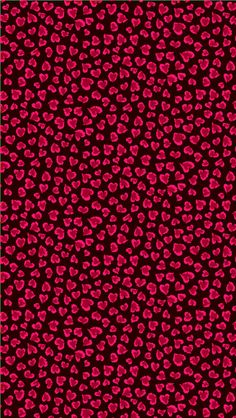 Black and red heart leopard print