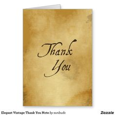 Elegant Vintage Thank You Note Greeting Card