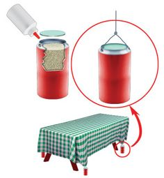 To hold down tablecloths on picnic tables, Trailer Life reader Dorothy Chappell came up with a clever idea. Camping Glamping, Camping Life, Camping Meals, Camping Hacks, Rv Hacks, Camping Recipes, Tablecloth Weights, Outdoor Tablecloth, Tablecloths