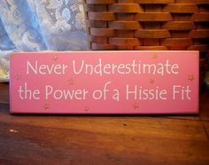 Hissie Fit Wood Sign Painted Funny by CountryWorkshop on Etsy, $11.00