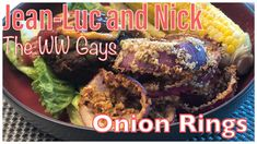 Onion rings are a favourite but full of oil!  We came up with a lower point and healthy option! Baked Onion Rings, Baked Onions, Onion Recipes, Roasted Red Peppers, Weight Watchers Meals, Healthy Options, Greek Yogurt, Beef, Stuffed Peppers