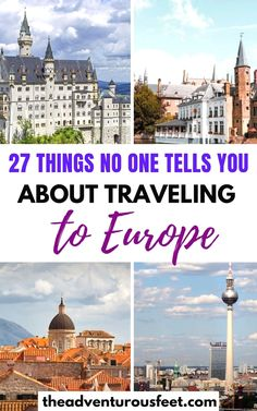 Are you planning a trip to Europe and not sure what to do or not to do? Here are the biggest mistakes to avoid while traveling in Europe. Backpacking Europe, Europe Travel Guide, Europe Europe, Travel Guides, Travel Destinations, Travel Diys, Travelling Europe, Traveling Tips, Travel Essentials