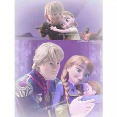 Kristoff et Anna , et Pauline Bjorgman ( Kristanna family ) Frozen And Tangled, Frozen Elsa And Anna, Frozen Disney, Disney Magic, Frozen Book, Frozen Stuff, Disney Movies To Watch, Disney Films, Disney And Dreamworks