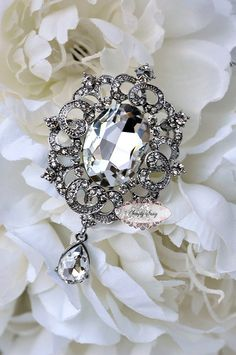 Rhinestone Brooch by simplysassysource, $4.75