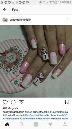 Make Color, Us Nails, Creative Nails, Trendy Nails, Manicure And Pedicure, Summer Nails, Nail Colors, Acrylic Nails, Nail Designs