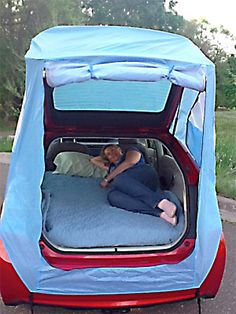 Hack Turns Your Prius Into a Mobile Hotel I may be able to camp again with this. Tent Hack Turns Your Prius Into a Mobile Hotel : TreeHugger may be able to camp again with this. Tent Hack Turns Your Prius Into a Mobile Hotel : TreeHugger