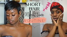 Night Time Pixie Routine + The Next Morning! Short Relaxed Hairstyles, Pixie Hairstyles, Pixie Haircut, Black Women Hairstyles, Haircuts, Natural Hair Short Cuts, Short Hair Cuts, Natural Hair Styles, Short Styles