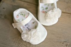 IVORY or WHITE baby shoes with chiffon ruffles, satin mary janes, elegant and dressy shoes, christening, wedding or baptism shoes
