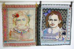 BORDUURSCHILDERINGEN: vrij borduurwerk/ in medaillons | hetty van de zande