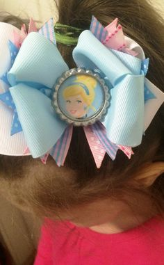 Cinderella Hair Bow/Cinderella Inspired Girls Bow/Toddler Bow/Girly Curl Bow/Hair Accessory/Disney hair bow/Holiday gift/Cheap/Princess Bow by GirlyCurlBowtique on Etsy https://www.etsy.com/listing/252918444/cinderella-hair-bowcinderella-inspired