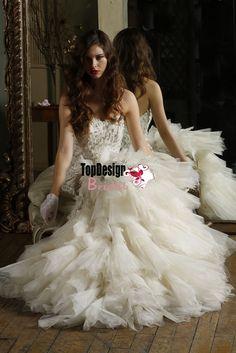 Custom make bridal gowns new 2016 beading crystals rhinestones tulle puffy corset Wedding Dress JB77673
