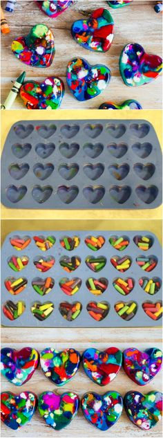 Are you looking for a simple DIY Halloween class gift? Some non-candy, no sugar, peanut-free and all that. These heart-shaped crayons of this Valentine's Day become a classroom favorite – Halloween Diy Pins Valentines Bricolage, Kinder Valentines, Homemade Valentines, Diy Valentine, Valentines Hearts, Kids Crafts, Diy And Crafts, Easy Crafts, Easy Diy Gifts