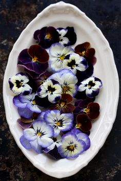 Clemmensen and Brok: All around A Little Pistachio Cake and some Pansies. Pansies are one of my favorite flowers-happy blooms